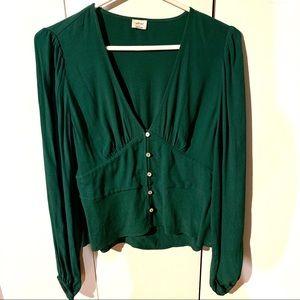 Aritzia Wilfred Prairie blouse top